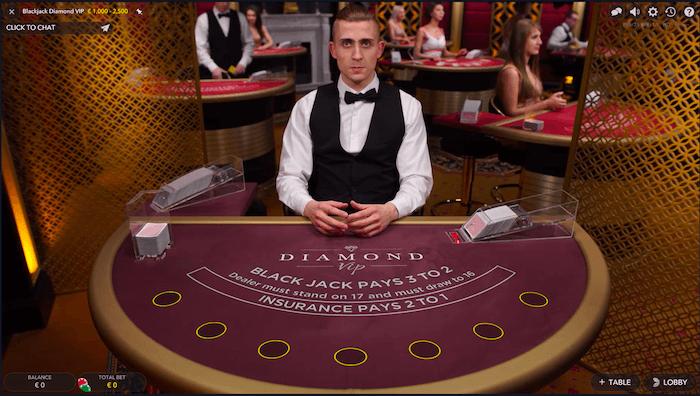 diamond vip blackjack evolution