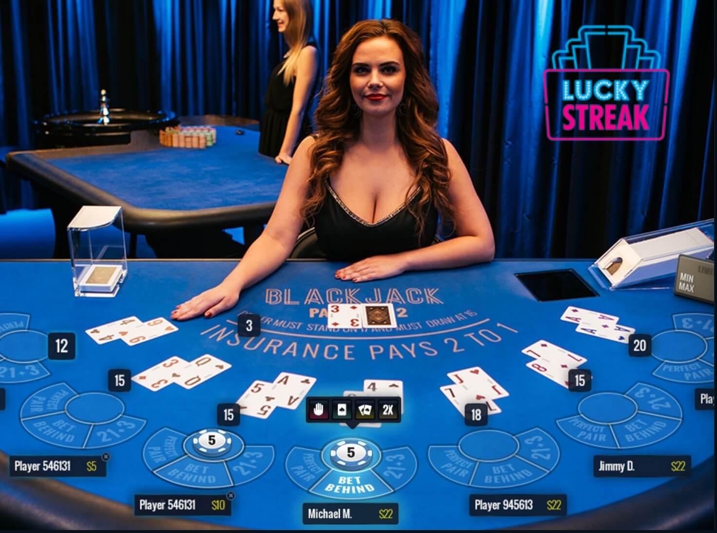 lucky streak live blackjack