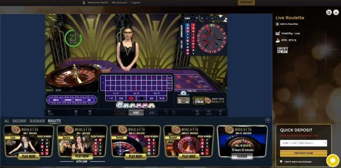 lucky streak live roulette