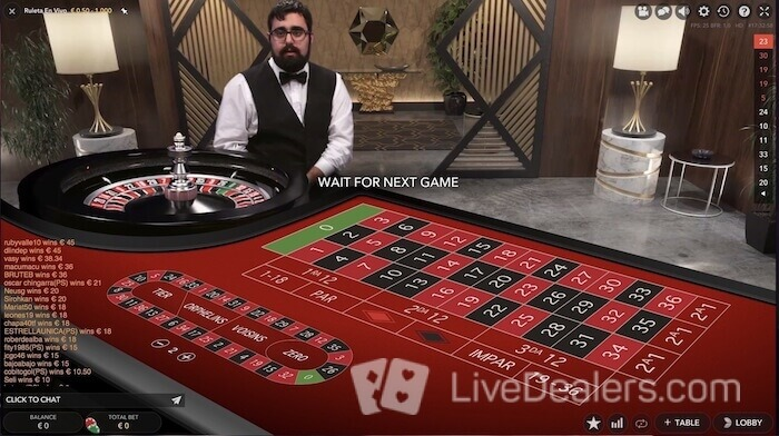 ruleta en vivo from evolution gaming