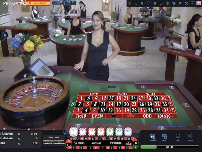 vivo gaming live roulette