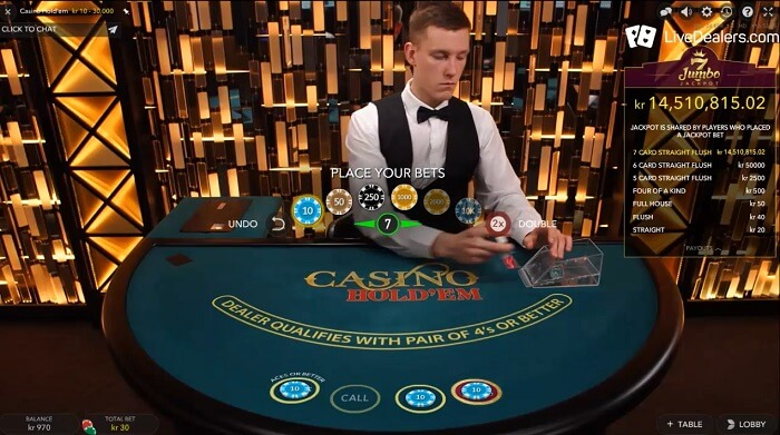 Casino Hold'em Jumbo-7 evoluton gaming